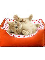 Кошка Собака Кровати Животные Коврики и подушки Мягкий Оранжевый