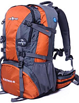 Men Sports & Leisure Bag Oxford Cloth All Seasons Sports Outdoor Professioanl Use Camping & Hiking Climbing Zipper Black Orange Ruby