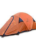 2 personnes Tente Double Tente pliable Une pièce Tente de camping Fibre de verre Oxford Etanche Portable-Randonnée Camping-Orange