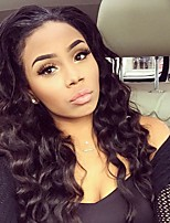 100% Brazilian Virgin Hair Lace Wig Lace Front Natural Color Natural Wave Lace Wig-glueless with Baby Hair