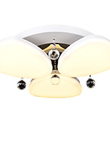 플러쉬 마운트 ,  컴템포러리 / 모던 페인팅 특색 for 크리스탈 LED 금속 키즈 룸 현관 전구 1개