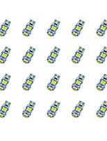 20шт t10 5 * 5050 smd tabula раса декодирование светодиодная лампа автомобиля белый свет dc12v