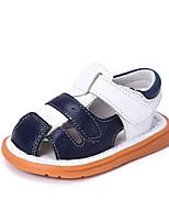 Para Meninos Bebê Sandálias Conforto Pele Verão Casual Conforto Rasteiro Laranja Verde Azul 2,5 a 4,5 cm