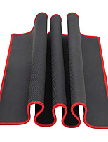 Large Black Red Edge Solid Mouse Pad