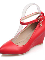 Women's Heels Spring Summer Formal Shoes Leatherette Party & Evening Dress Wedge Heel Buckle