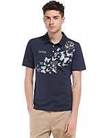 6 Colors Plus Size S-3XL Men's Going out Casual/Daily Vintage Simple Spring Summer T-shirtPrint Shirt Collar Short Sleeve Cotton Thin
