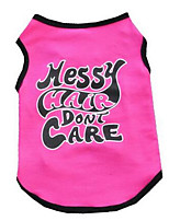 Dog Vest Dog Clothes Summer Cartoon Cute Casual/Daily Blue Fuchsia Yellow