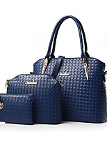 2017 Women Handbags Leather Handbag Women Messenger Bags Ladies Brand Designs Bag Famous Bags HandbagPurseMessenger Bag 3 Sets