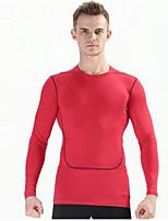 Муж. Короткие рукава Бег Верхняя часть Дышащий Удобный Лето Спортивная одежда Бег 100% полиэстерБелый Оранжевый Красно-черный