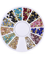1PC Nails Decorations The Size Of The The Bottom Of The Tip Diamond Shiny The Crystal 2mm 3mm