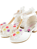 Girls' Wedding Shoes Summer Fall Comfort Novelty Flower Girl Shoes Glitter Leatherette Wedding Party & Evening Dress Casual Flat Heel