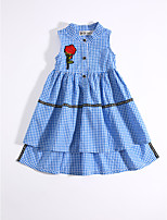 Girl's Casual/Daily Plaid Dress,Cotton Summer