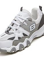 Women's Athletic Shoes Spring Fall Comfort PU Outdoor Flat Heel Blushing Pink Gray