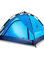 3-4 Pessoas Tenda Duplo Tenda Automática Um Quarto Barraca de acampamento 2000-3000 mm Fibra de Vidro Oxford Prova de Água Portátil-