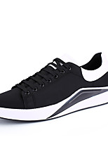Man Casual Flat Heel All-match Sneakers Shoes PU Leather Surface Men's Shoes for Training Casual Shoes Fashion Sport Shoes EU Size 39-44 Black/White