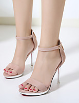 Sapatos femininos t-strap sintético casual corar preto rosa