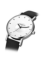REBIRTH® Women's Fashion Watch Quartz PU Band Black White