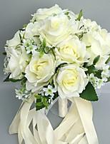 Свадебные цветы Круглый Розы Букеты Свадебное белье Атлас 28 см