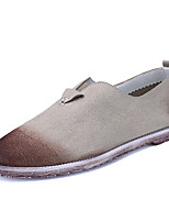 Men's Loafers & Slip-Ons Spring / Fall Comfort Canvas Casual Flat Heel Slip-on Grey Beige Brown