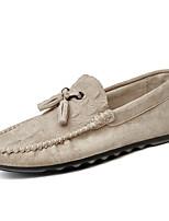 Men's Loafers & Slip-Ons Spring Summer Fall Comfort Nappa Leather Office & Career Casual Walking Flat Heel Split JointDark Grey Beige