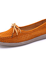 Women's Loafers & Slip-Ons Summer Fall Comfort Leather Casual Flat Heel
