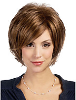 MAYSU Fluffy Mixed Color Short  Hair Synthetic Wig     Woman hair