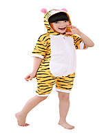 kigurumi Pyjamas Tiger Collant/Combinaison Fête / Célébration Pyjamas Animale Halloween Orange Rayé Coton Costumes de Cosplay PourUnisexe