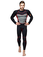 WELLPATH® Men's Wetsuit Skin Thermal / Warm Ultraviolet Resistant Soft Nylon Neoprene Diving Suit Long Sleeve Diving Suits-Fishing