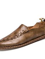 Men's Sneakers Spring Fall Leatherette Casual Khaki Gray Black Walking