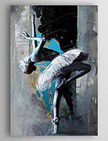 Ручная роспись Люди Вертикальная,Modern 1 панель Холст Hang-роспись маслом For Украшение дома