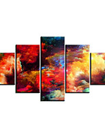 Art Print Abstract Modern Five Panels Horizontal Print Wall Decor For Home Decoration