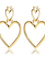 Boucles d'oreille goutte Mode Strass Alliage Forme de Coeur Bijoux Pour Soirée Bikini 1 paire