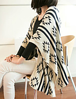 Women's Holiday Long Cardigan,Geometric Asymmetrical ¾ Sleeve Cotton Summer Medium Micro-elastic