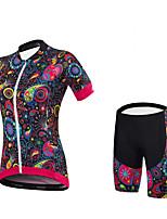 Maillot de Ciclismo con Shorts Bib Mujer Mangas cortas BicicletaShorts/Malla corta Camiseta/Maillot Pantalones Cortos Acolchados Maillot
