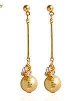 Drop Earrings Earrings Set Earrings Rhinestone Basic Sexy Cute Style Handmade Simple Style British Chrismas Classic DIY Rhinestone Alloy