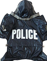 Dog Rain Coat Dog Clothes Spring/Fall Police/Military Cosplay
