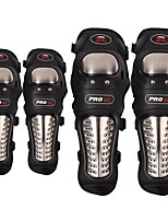 PRO-BIKER 4PCS/SET Stainless Steel Motorcycle ATV Knee & Elbow Pads Protective Gear Motorbike Off-road Racing Guards