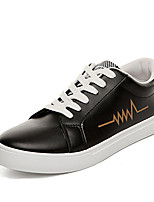 Men's Sneakers Spring Summer Fall Comfort PU Casual Flat Heel Lace-up