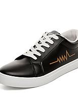 -Для мужчин-Повседневный-Полиуретан-На плоской подошве-Удобная обувь-Кеды