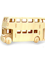Jigsaw Puzzles 3D Puzzles Building Blocks DIY Toys Bus Wood Model & Building Toy