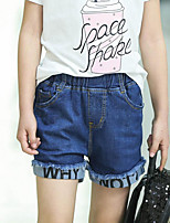 Girls' Casual/Daily Solid Print Jeans-Cotton Summer