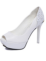 -Для женщин-Свадьба Для офиса Для праздника Для вечеринки / ужина-Полиуретан-На шпильке-Удобная обувь-Обувь на каблуках