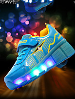 Girls' Sneakers Spring Fall Light Up Shoes Comfort Novelty PU Outdoor Athletic Casual Flat Heel Hook & Loop  Skiing Shoes