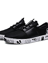 Men's Sneakers Spring Fall Comfort PU Casual Lace-up Black White