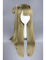 Long straight love live-uchida aya loira sintética 32inch anime cosplay ponytail peruca cs-181a