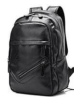 Men Backpack PU All Seasons Casual Brown Black
