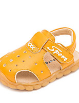 Boys' Sandals Summer First Walkers Cowhide Casual Flat Heel Yellow Black White