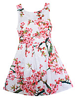 Girls Dress Pink Plum Blossom Flower Dresses Clothes Party Pageant Wedding Children Clothing