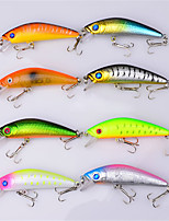 8 pcs Hard Bait Minnow Fishing Lures Hard Bait Minnow Lure Packs Multicolored g/Ounce mm/2-11/16