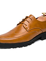 Men's Loafers & Slip-Ons Spring Fall Comfort Customized Materials Outdoor Office & Career Casual Flat Heel Split Joint Brown Yellow Black